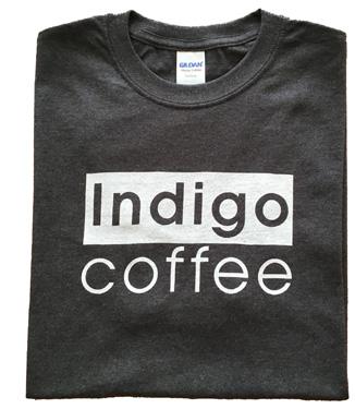 indigo coffee company tee shirt